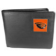 Oregon St. Beavers Leather Bi-fold Wallet Packaged in Gift Box